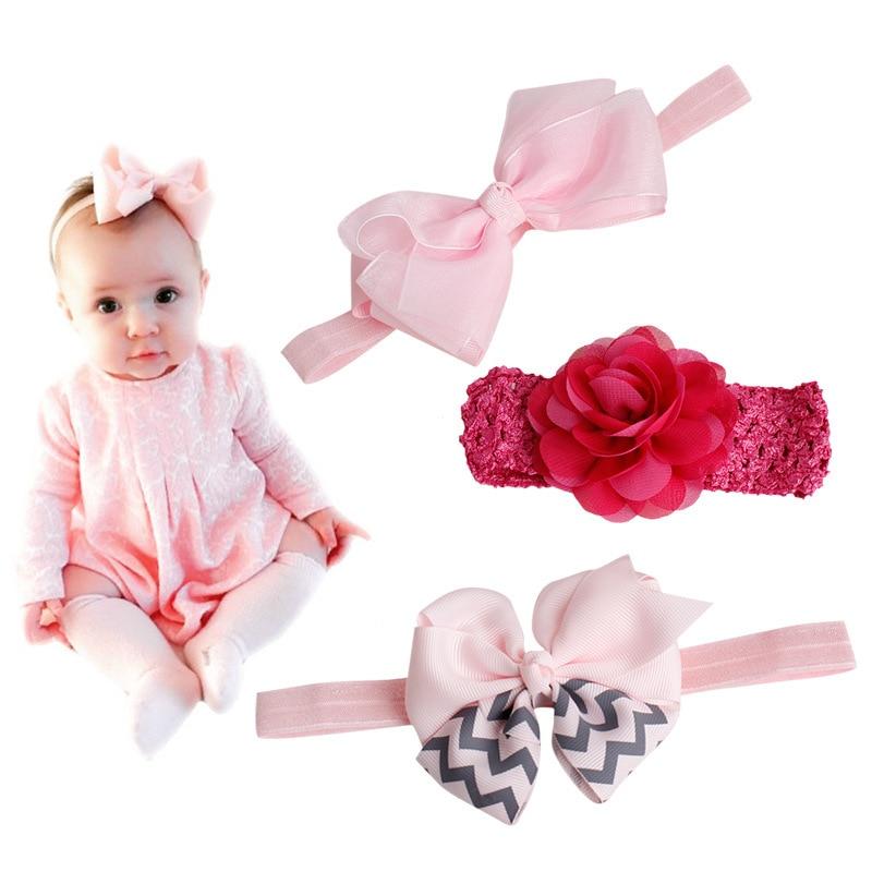 #61104 Baby Hair Bands Accessories Baby Kids Girls Toddler Newborn Cloth Bow knot Flower 14 Patterns Choice Hairband Headband