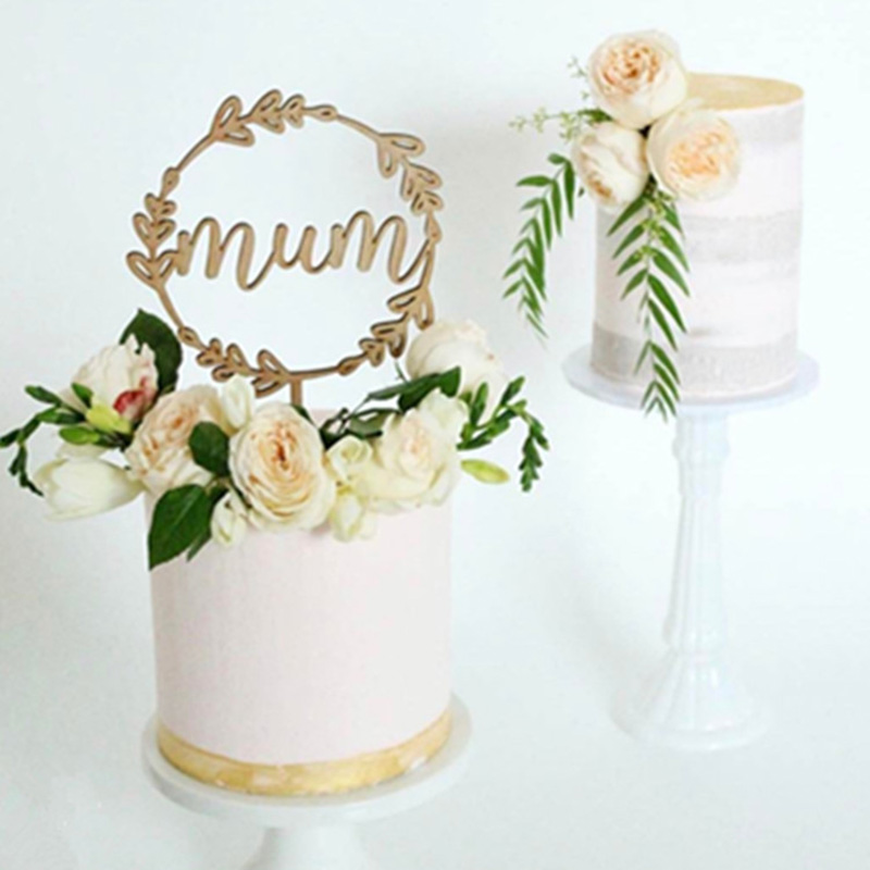 Stupendous Ins New Mum Acrylic Cake Topper Rose Gold Mom Happy Birthday Cake Funny Birthday Cards Online Inifofree Goldxyz