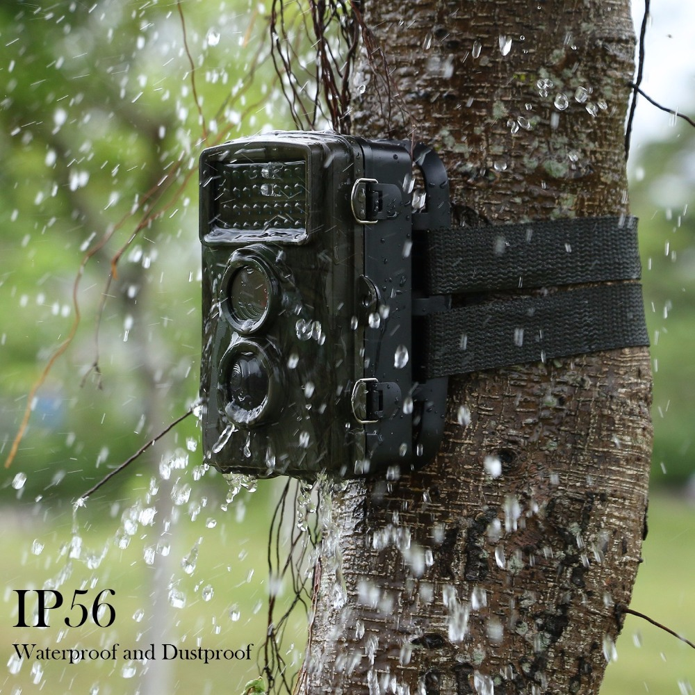 12MP Wild Trail Camera Animal Observation Hunting Camera Waterproof Infrared Night Vision Camera Recorder