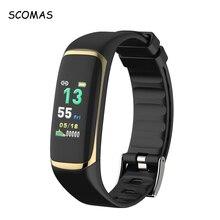 ФОТО scomas p9 smart wristband band watch sleep snore heart rate monitor smartband plusometer hrv fatigue test sport fitness bracelet