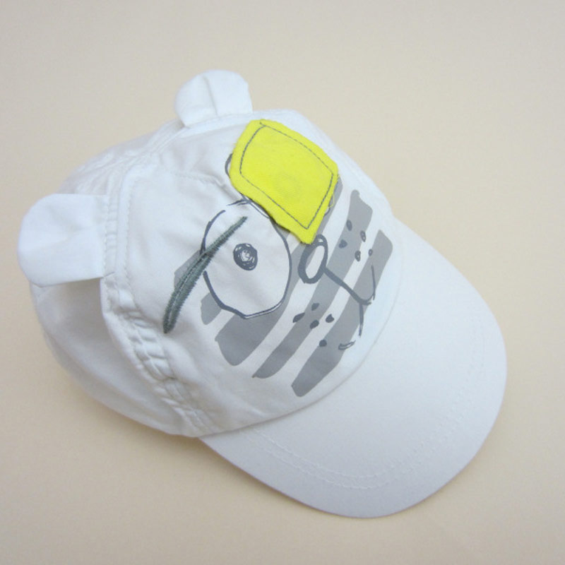 White Baby Baseball Hat Blindfolded Tiger Toddler Kids Boys Girls Sun Protection Cap with Wide Brim Duck Caps Elastic Band Adjustable Size (10)