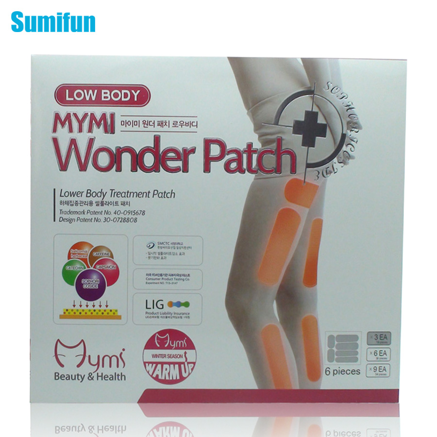 36Pcs in 1 Box Mymi Wonder Patch Lower Body Treatment Slimming Slim Patch Leg Patch Cream Plaster Lose Weight Loss C096