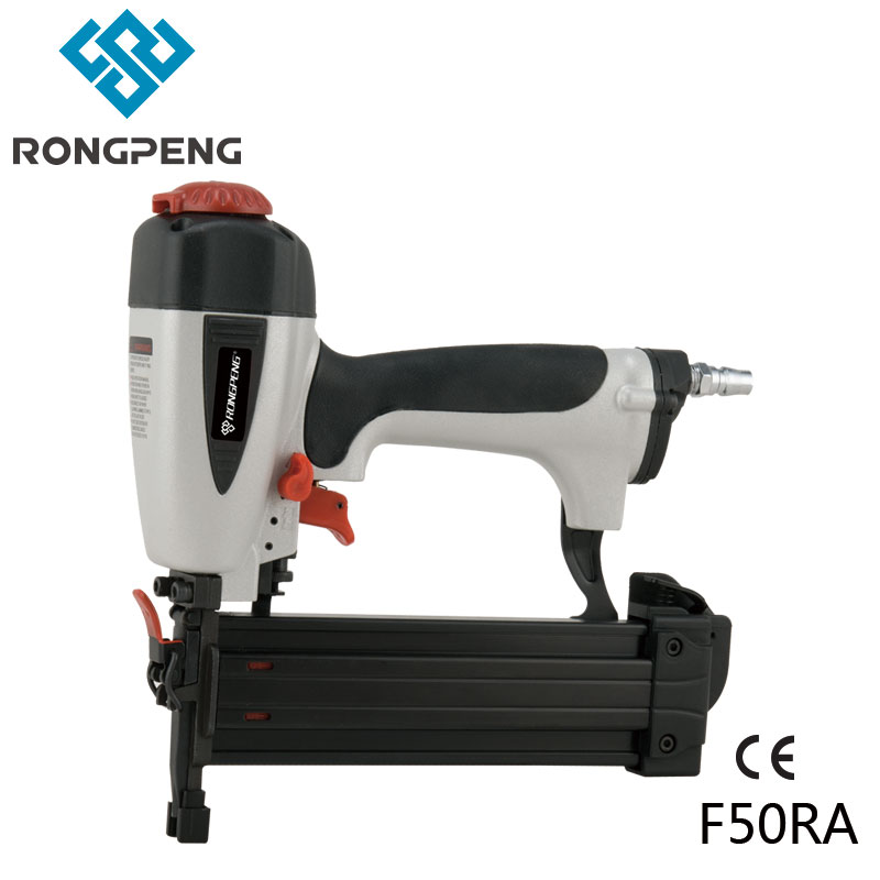 цена RONGPENG HEAVY DUTY INDUSTRIAL NAILER GUN F50RA WITH QUICK CLEAR NOSE GA18 F NAILS PNEUMATIC TOOL