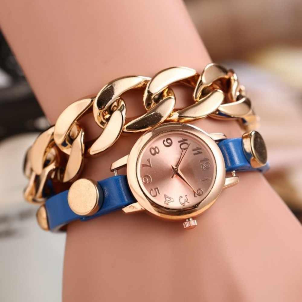 Splendid חדש נשי שעון קוורץ צמיד שעונים נשים גבירותיי האופנה Reloje-פרח שעון שעוני יד שרשרת פנינת חיקוי