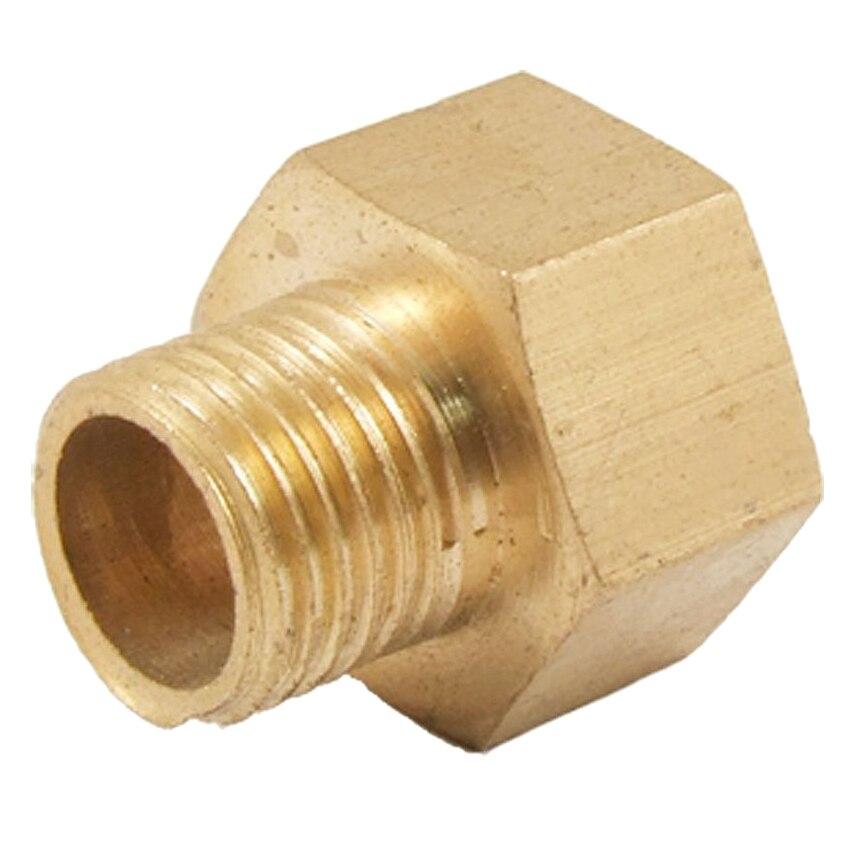 Sanitär Rohrverbindungsstücke Kraftvoll 12,5mm Stecker Auf 16mm Weibliche Sechskant Gewinde Buchse Gerade Stecker Gold Strukturelle Behinderungen