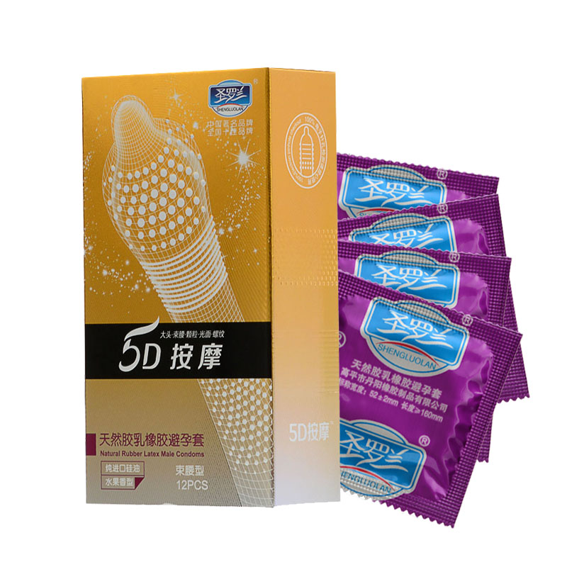 24Pcs/Lot 5D  Dotted Thread Ribbed G-Point Latex Condoms Contraceptives Big Particle Spike Condom For Men Sex Products