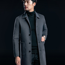 2017 New Handmade Cashmere Men's Long Jacket Winter Warm and Comfortable High-quality Clothing Men Coats & Jackets Trench S-3XL