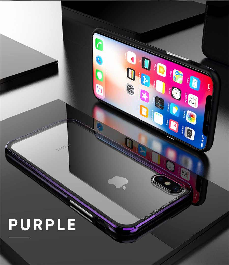 Luxury Aluminum Phone Cases For iPhone X Original R-just Hardness Tempered Glass Cover Case For iPhone X 10 Accessories (13)