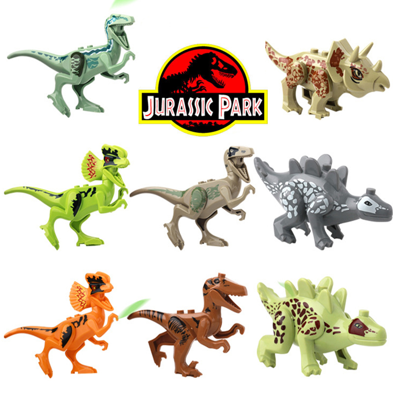 2017 NEW 8 Pcs. Bricks Building Compatibility LegoINGlys NinjagoINGlys Set Blocks Original Classic Dinosaur Toys for children