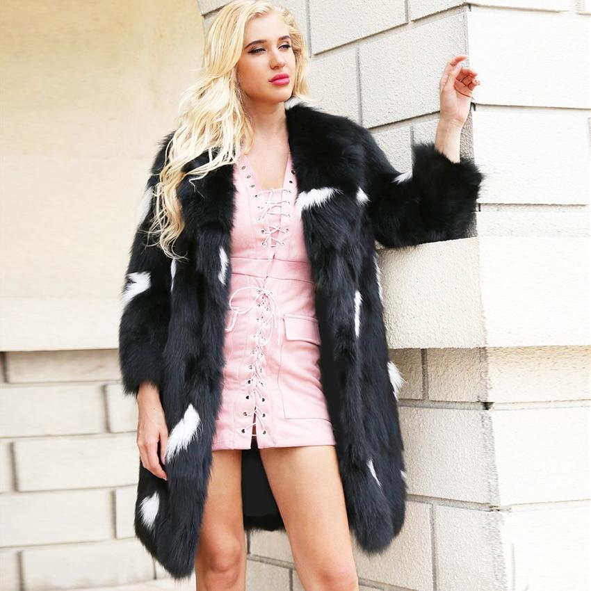 Lanshifei chine fabrication femmes Faux moelleux fourrure manteau Faux lapin fourrure veste pas cher hiver chaud Long manteau fausse épaisse fourrure veste
