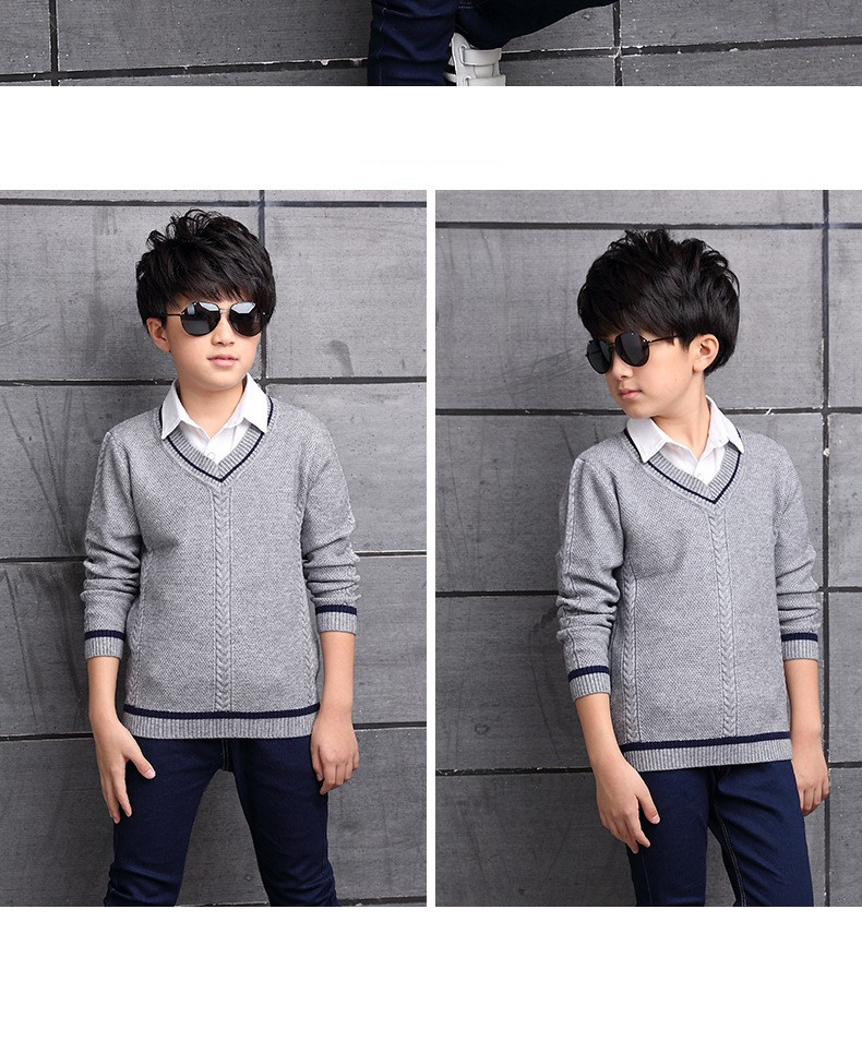 HTB1SGvVOXXXXXXzXpXXq6xXFXXXI - 2017 Children's sweater Winter new  Keep warm Cashmere boy sweater V-collar Kids for boys Children's clothing Winter clothing