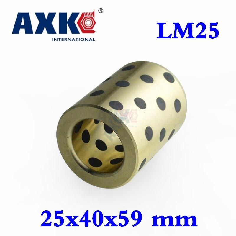 цены Ball Bearing 4pcs 25x40x59 Mm Linear Graphite Copper Set Bearing Bushing Oil Self-lubricating Jdb Free Shipping Lm25uu Lm25
