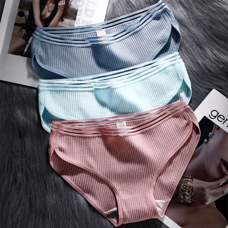 Cotton Mesh Panties Women Underwear 2018 Cute Candy Colors Panties Girl Lingerie Panty for Ladies Breathable Sport Briefs V1