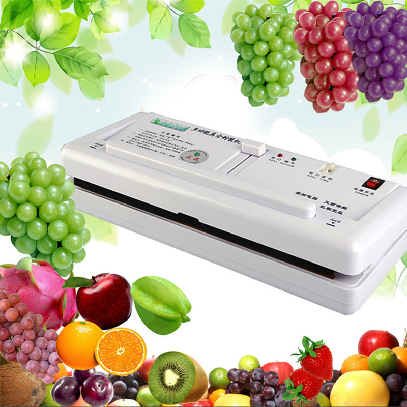 Household food vacuum sealer packaging machine automatic electric film food sealer vacuum packer   ZF zonesun free express shipping household vacuum food packaging machine plastic film sealer plastic packaing machine