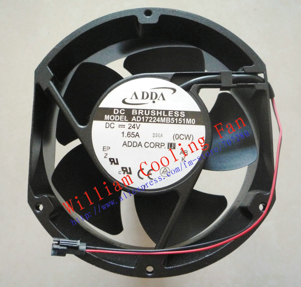 New Original ADDA AD17224MB5151M0 DC24V 1.65A 2 lines Inverter coolling fan adda 17cm ad17224mb5151m0 172 150 51mm 24v 1 65a 2wire cooling fan