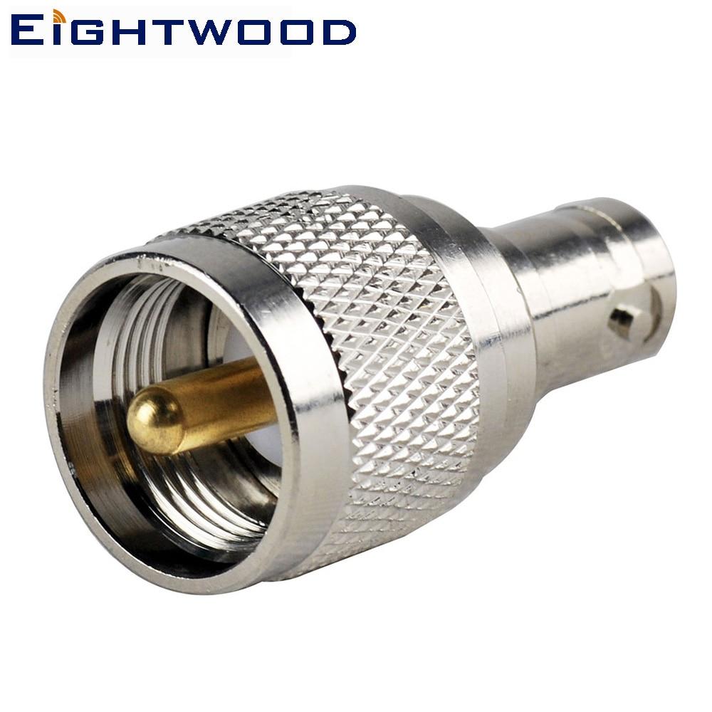 Eightwood BNC-UHF SO-239 SO239 automašīnas radio antena adapteris BNC ligzda uz UHF SO-239 SO239 Plug Straight (5PCS)