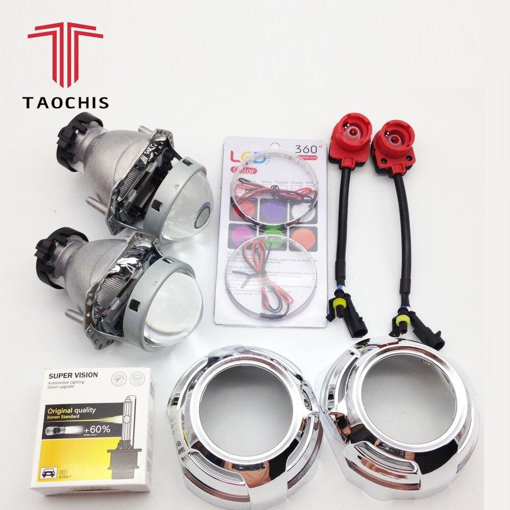 TAOCHIS Hella 3R G5 projecteur lentille HID Bi xenon D2S linceul yeux diable modifier phare lampe mise à niveau modification démon oeil
