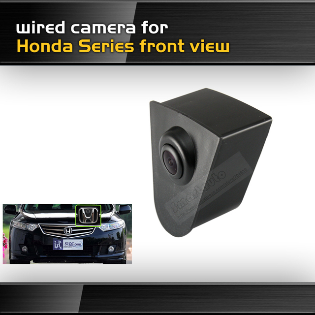New high quality goods free shipping HD CCD car front view parking camera for Honda Series front view night vision waterproof