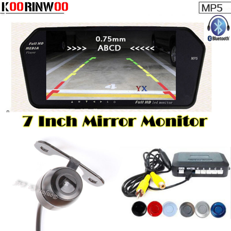 Dual Core CPU Car Parking Sensors 4 Radars HD Car Monitor Bluetooth MP5/4 FM Auto Rear view camera parktronic Parking System 1pc hss straight machine boring tool round lathe bar rod dia 9 1 9 2 9 3 9 4 9 5 9 6 9 7 9 8 9 9 10 10 5 11 12 20mm 100mm long