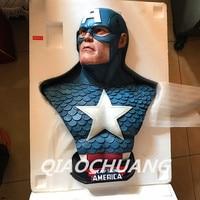 Captain America 3: Civil War Statue Captain America 1:1 Bust(LIFE SIZE) Avengers Steven Rogers Sculpture Resin Model Toy W233