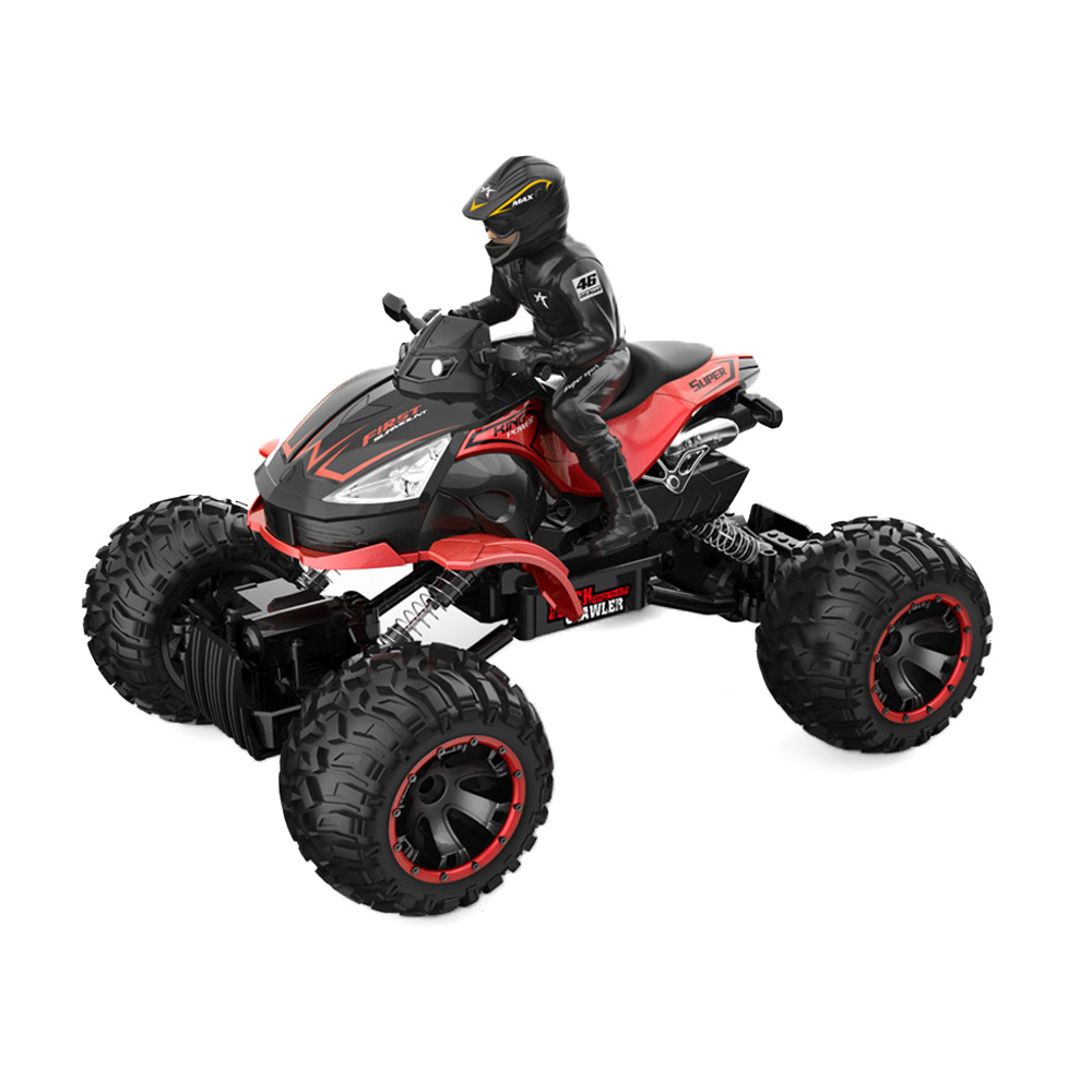 цена на 1/14 Scale 2.4GHz Wireless Remote Control Four Wheel RC Off-road Crawler Car Motor Cycle