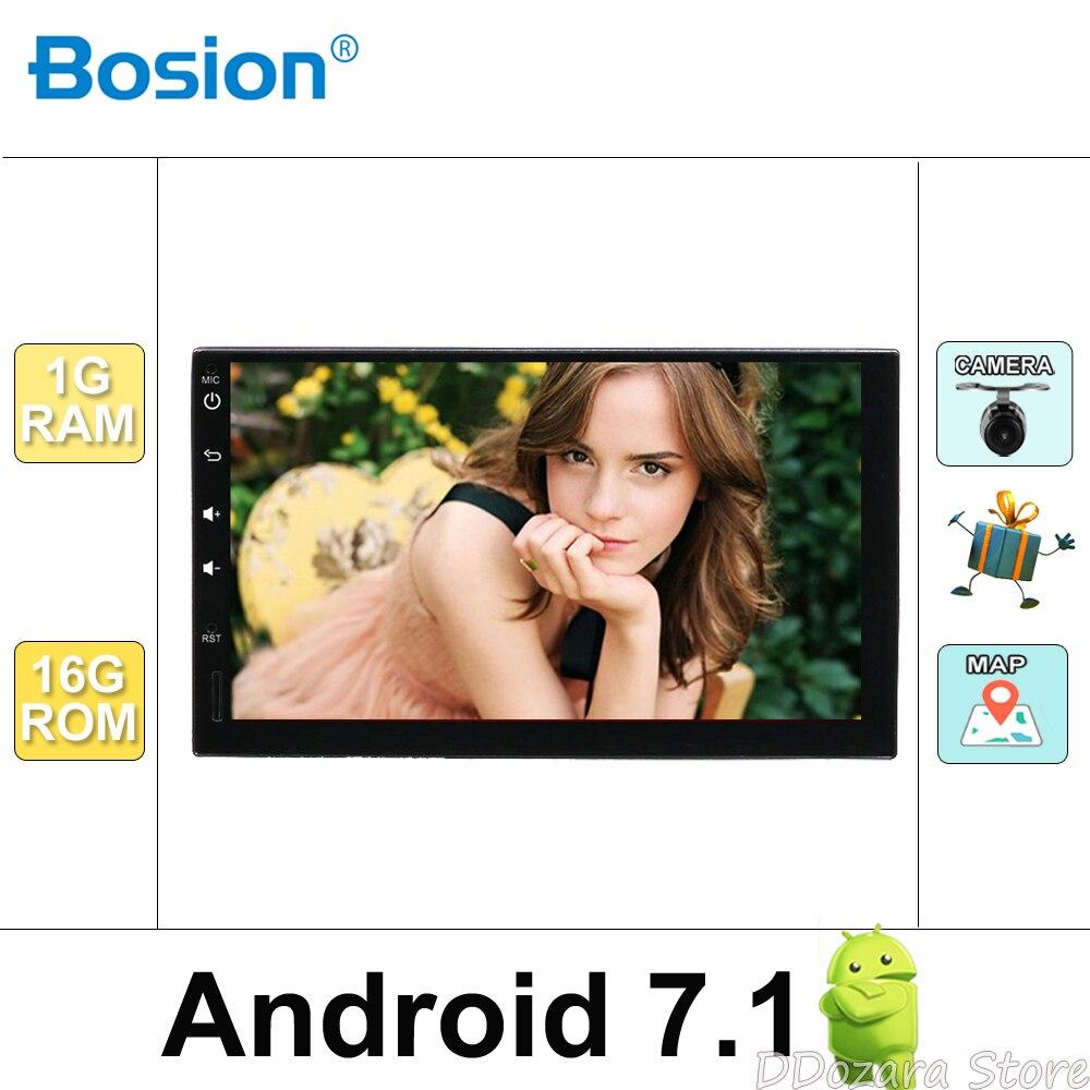 Android 7,1 универсальный автомобильный Радио двойной 2 din Автомобильный Радио плеер gps навигация в тире автомобильный ПК стерео видео + бесплатн...