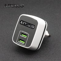 AIXXCO Dual USB Charger 5V4A Universal Portable Travel Wall Charger Adapter EU Plug Mobile Phone Charger