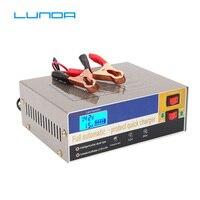 LUNDA 110 V/220 V Automatische Elektrische Auto Acculader Intelligente Puls Reparatie Type Acculader 12 V/24 V 6AH 100AH