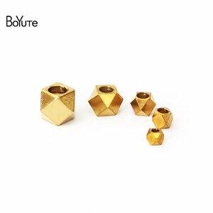 BoYuTe (100 шт./лот) металлические латунные квадратные разделители для изготовления ювелирных изделий Diy ручной работы