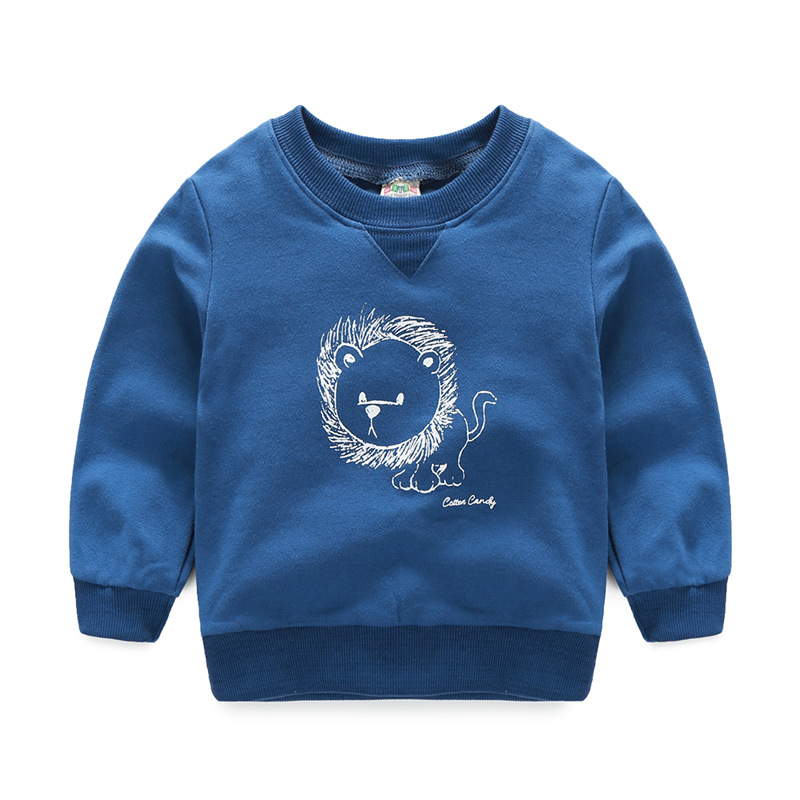 2017 Autumn winter kids sweatshirts Solid color lion Boys girls pure cotton T-shirt Baby Children clothing clothes TOPs tees