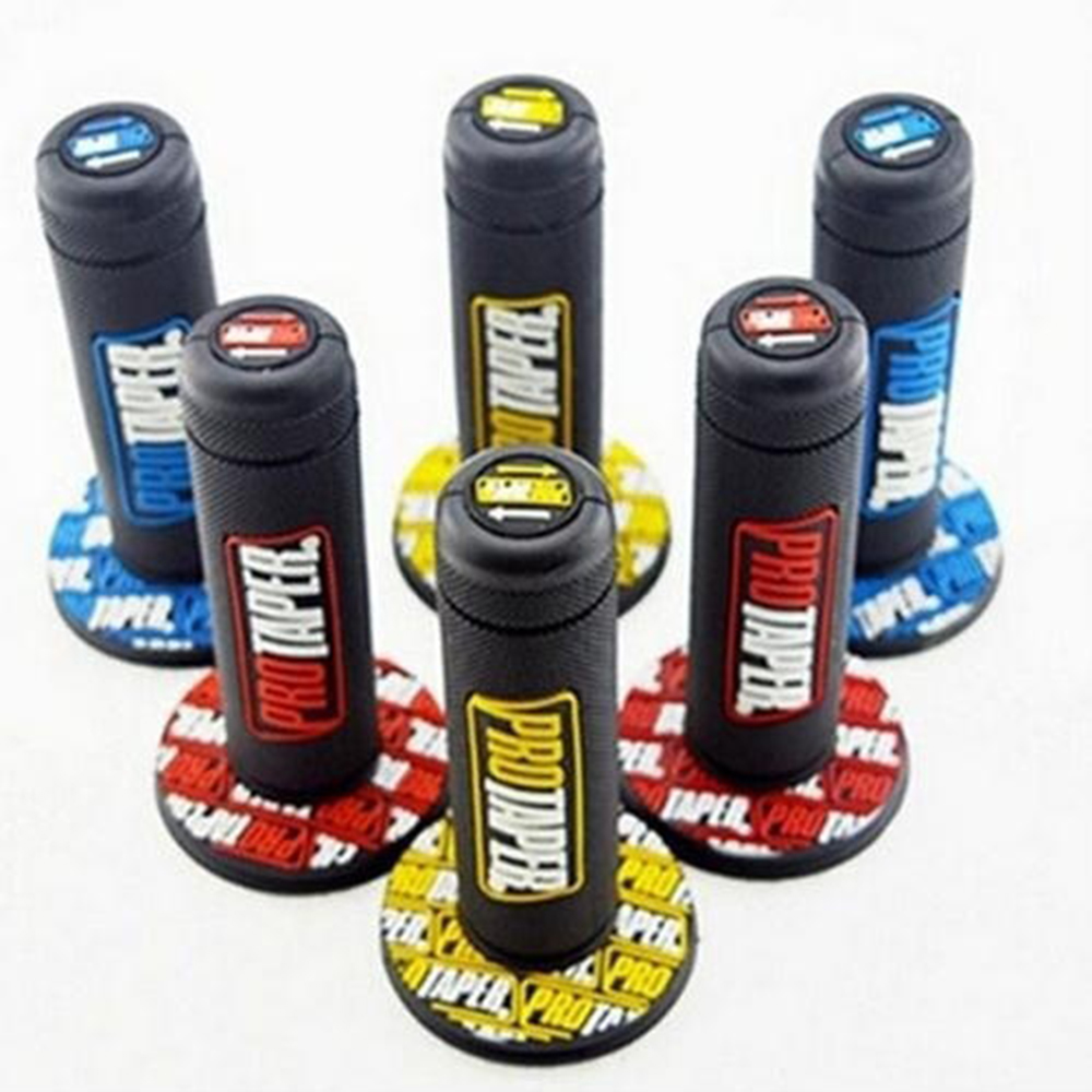 1 Pair High Quality Motorcycle Dirt Pit Bike 7/8 Handlebar Rubber Universal Hand Grips Brake for Beach Motorcycles Scooter