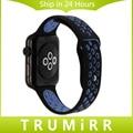 Спорт Силиконовый Ремешок Для Часов 1:1 в качестве Оригинала для 38 мм 42 мм iWatch Apple Watch Band Замена Ремешок Браслет Многоцветный + адаптер