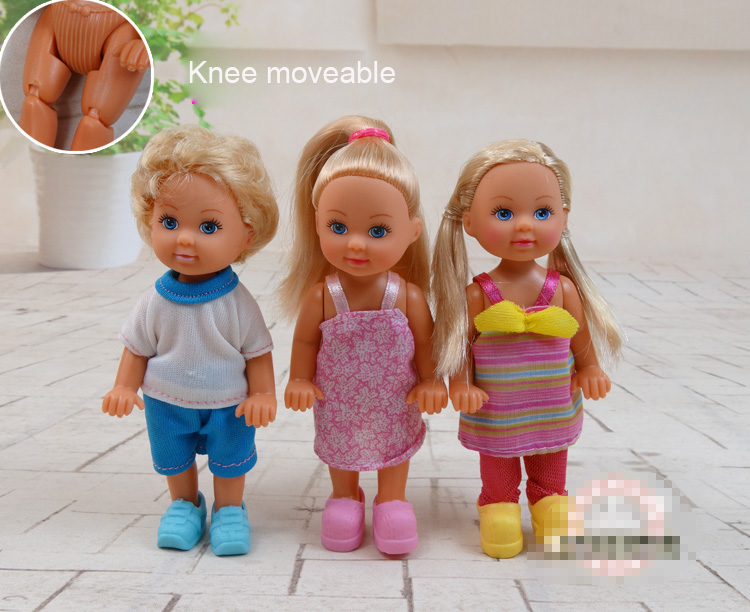 12cm Doll body and head Knee moveable For Simbaa Little Kally Toy Gift BBI00226