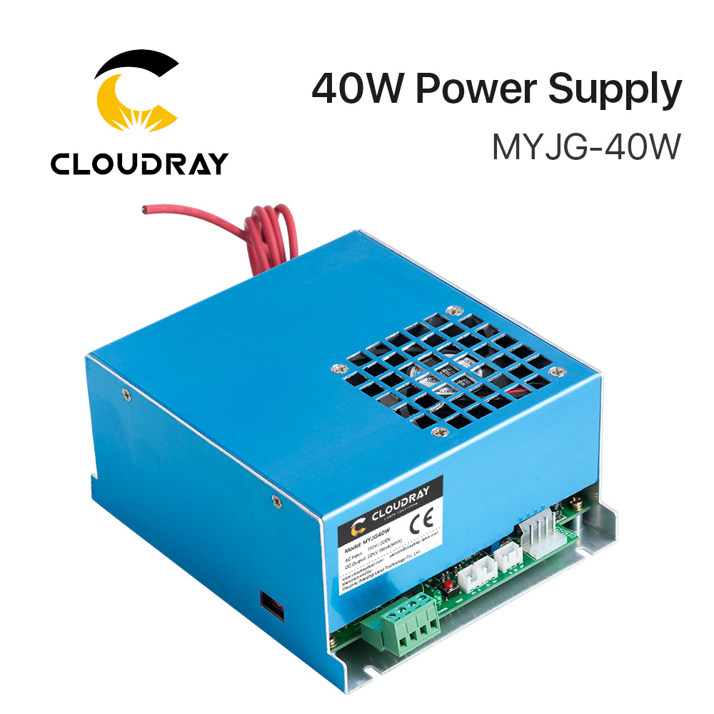 Cloudray 40W CO2 Laser Power Supply MYJG-40 110V 220V for CO2 Laser Engraving Cutting Machine 35-50W MYJG 50w co2 laser power supply for co2 laser engraving cutting machine myjg 50w