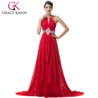 Free Shipping Red Backless Royal Evening Dress Formal Prom Gown Charming CL6184