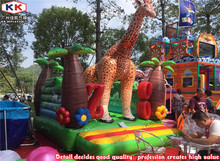 Zoo Bouncer inflatable jungle theme giraffe jumping bouncers for kids