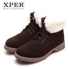 67559139697a Marque XPER Hommes D'hiver Bottes De Mode Chaud Casual Chaussures à lacets  Neige Cheville Bottes Chaussures Hommes Brun Antidéra.