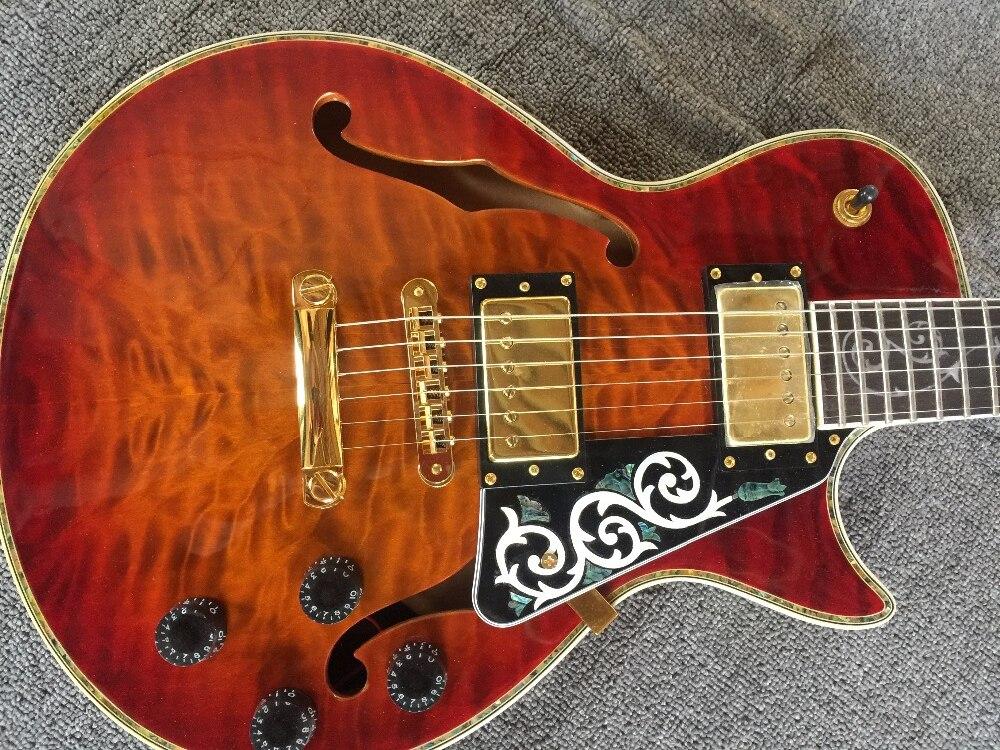 Guitare électrique/Anmiyue guitare personnalisée/perle Shell placage haute qualité belle guitare/guitare électrique chinoise