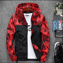 Luogen 2019 Casual Camouflage Jacket Men Slim Handsome Spring Autumn Baseball Clothes Streetwear Hip Hop Mens Jackets And Coats