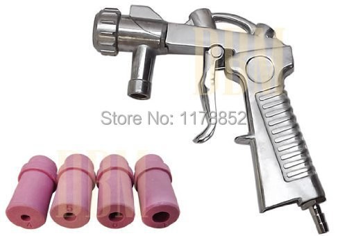 Air Sand Blaster Kit Blasting Sandblaster Siphon Feed Gun Nozzle Tube Rust Remove Abrasiv with 5 Ceramic Nozzle Tips 5mm or 6 mm 20pcs set sandblaster replacement air sand blasting ceramic nozzles tips 4 5mm for sand blast tools