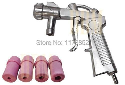 Sandblaster air SandBlasting gun Kit  with 5 Ceramic Nozzle Tips 5mm or 6 mm