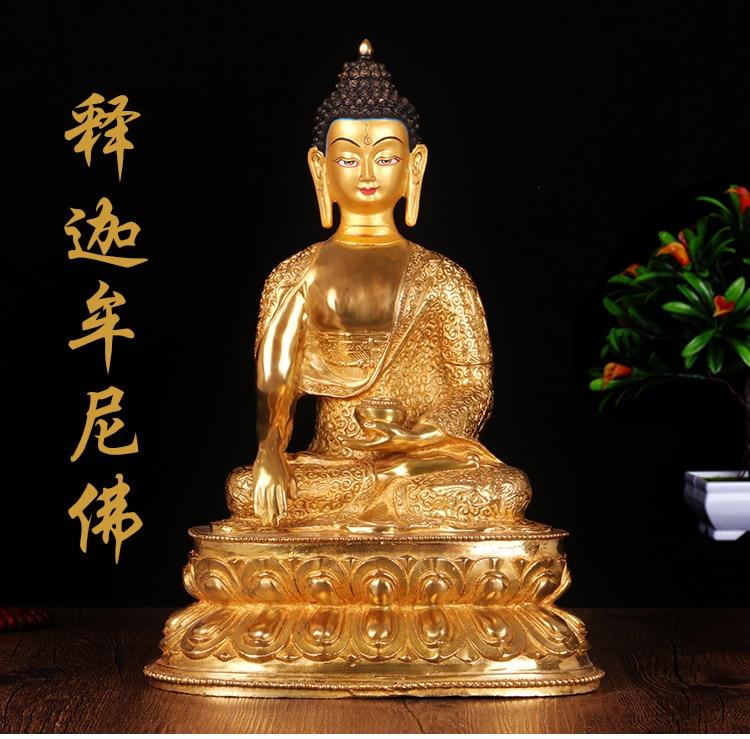 Wholesale Buddha # 34CM LARGE-efficacious HOME House Protection Talisman- Buddhist full gilding Sakyamuni Buddha brass statueWholesale Buddha # 34CM LARGE-efficacious HOME House Protection Talisman- Buddhist full gilding Sakyamuni Buddha brass statue