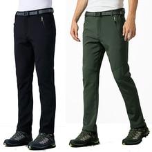5XL 2016 Men's Winter Inner Fleece Pants Outdoor Sport Thermal Waterproof Brand Clothing Male Hiking Trekking Ski Trousers MA054