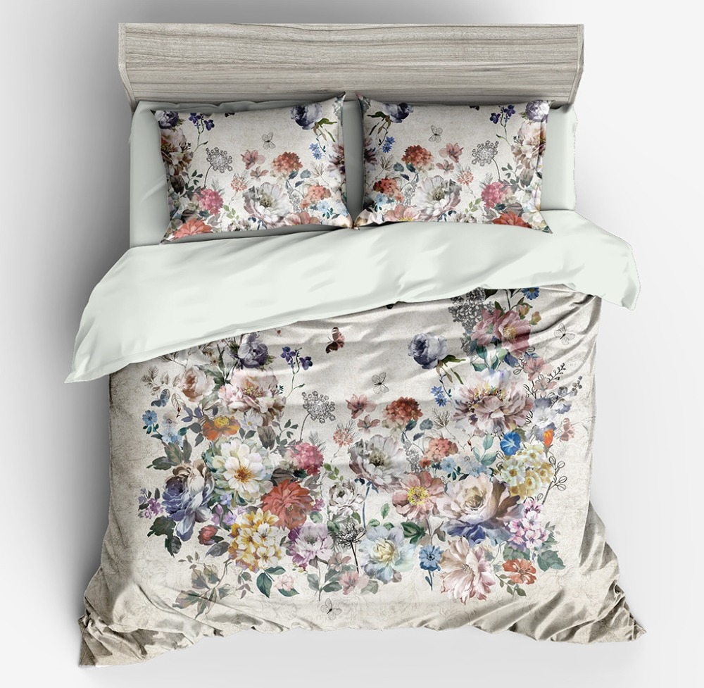 Bedding Set Comforters Duvet Covers  Adult Bed Sheet Set fresh flowers Bed Linens SetBedding Set Comforters Duvet Covers  Adult Bed Sheet Set fresh flowers Bed Linens Set