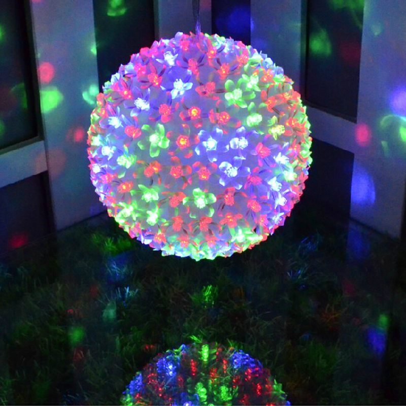 Holiday Lighting 1PC 10cm garland garden romantic wedding flower ball Light colorful 220V waterproof led christmas