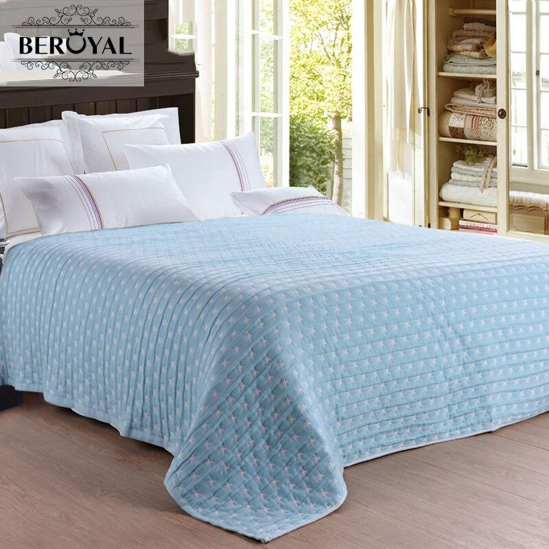 ФОТО 100% Cotton Japan Style Thread Blanket/towel Blanket Children Grade A Spring/autumn Blanket Stars Air Conditioning Towel Blanket