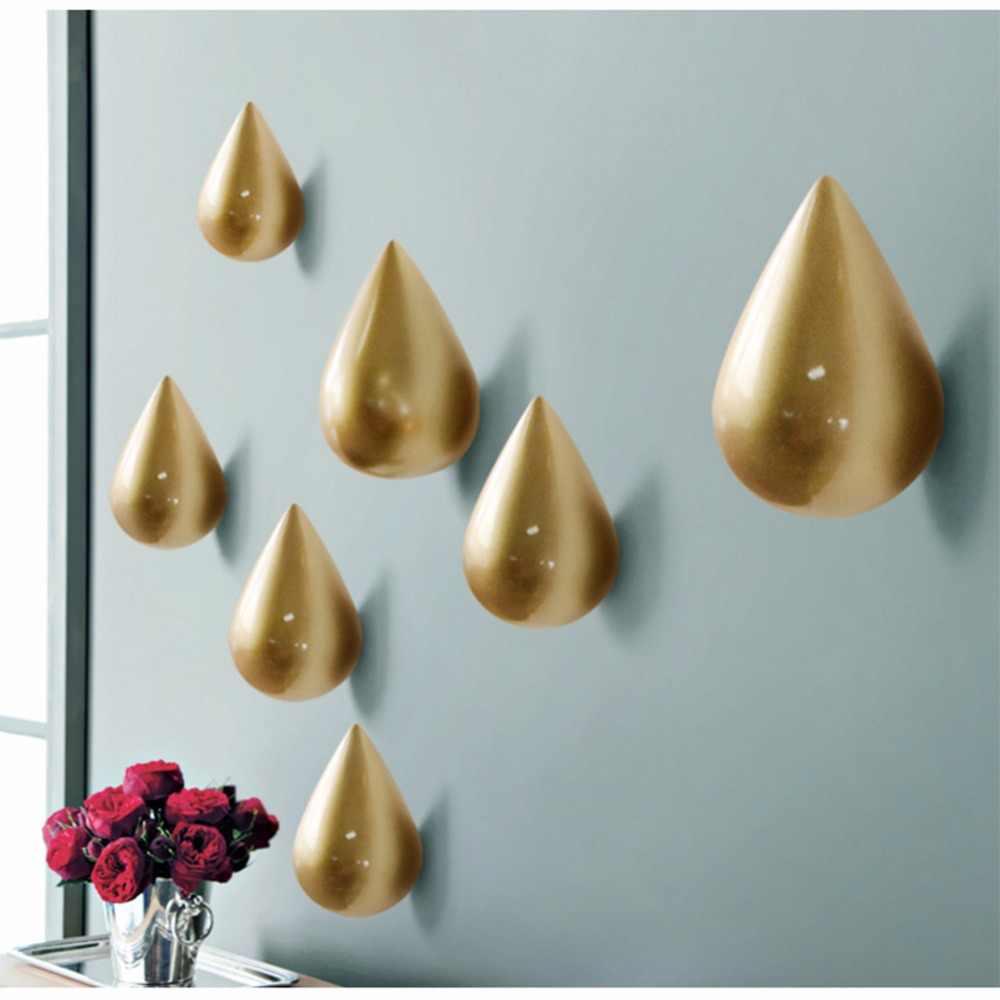8 × 5 × 5 センチメートル水滴デザイン壁ハンガーコート帽子 Colthes 掛けるため白/黒/ ゴールド/レッド/ブルー/グリーンプレミアム樹脂壁フック 1080P
