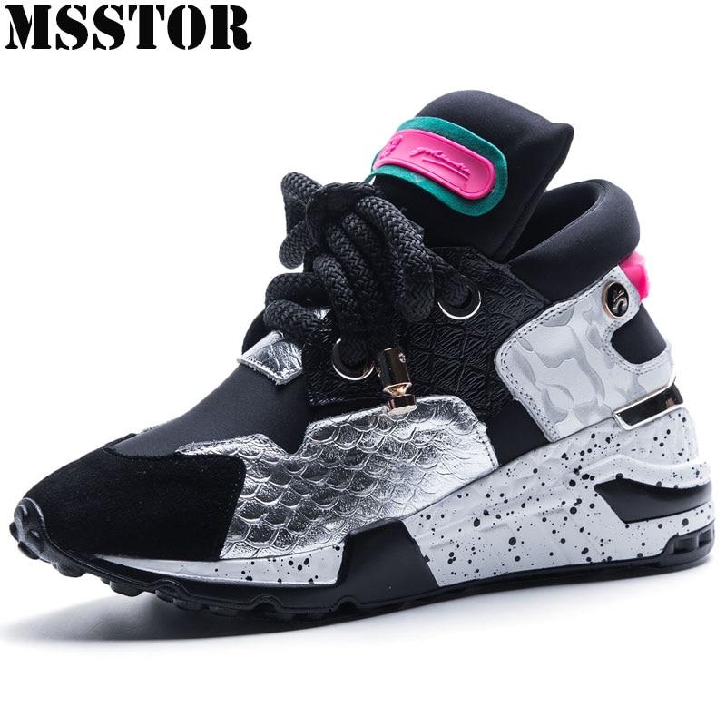 MSSTOR женские кроссовки женские брендовые уличные спортивные женские кроссовки летние дышащие натуральная кожа спортивная обувь для женщин