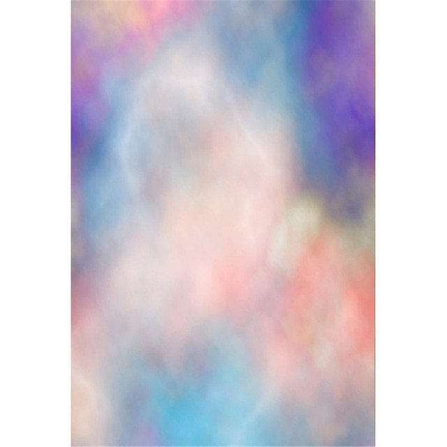 Pastel Blue Pink Purple Watercolor Backdrop For Newborn Photography Baby Shower Props Kids Grant Color Photo Shoot Background