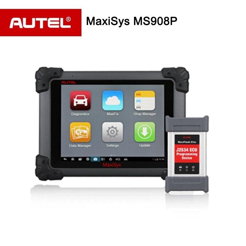 Autel MaxiSys Pro MS908P автомобильный диагностический сканер с ЭБУ кодирования и J2534 программирования (та же функция MaxiSys Elite)